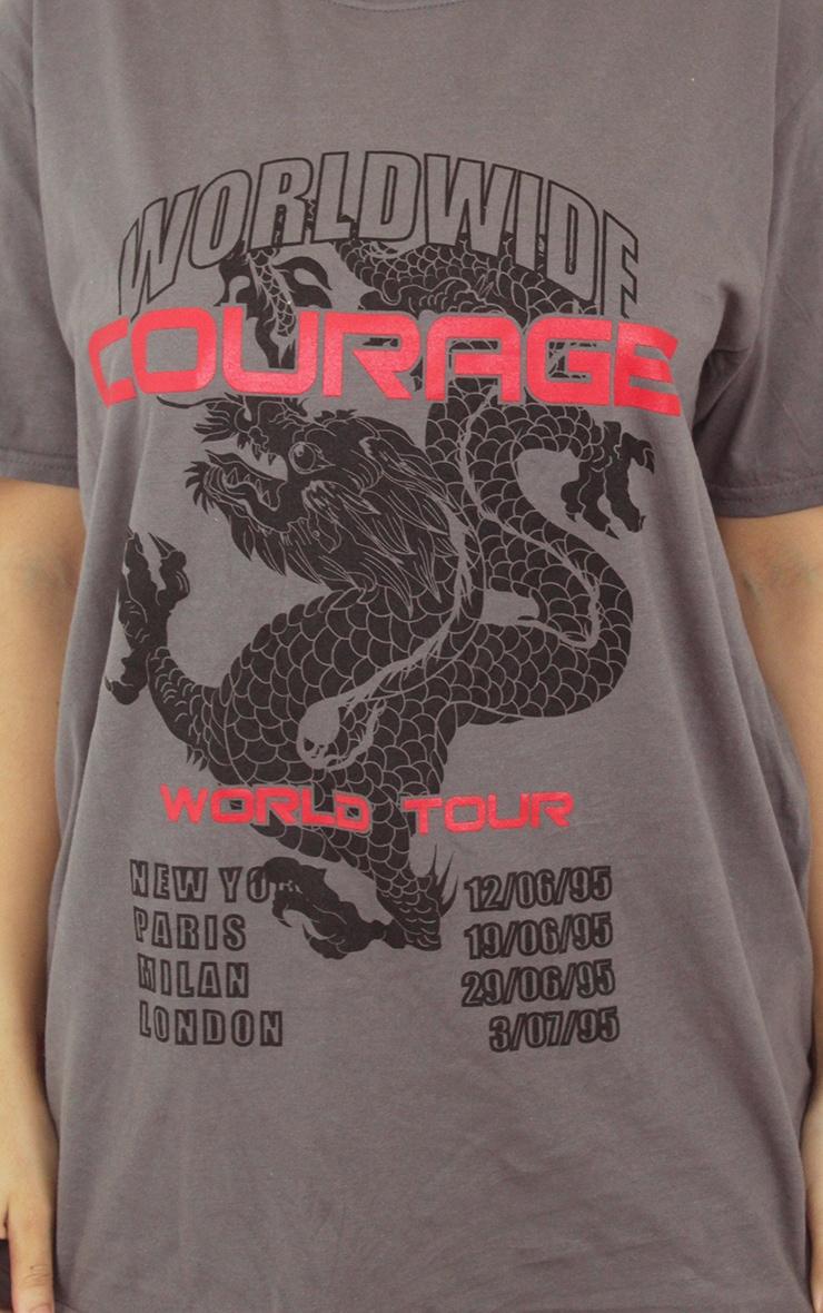 Grey Dragon Oversized T Shirt 4