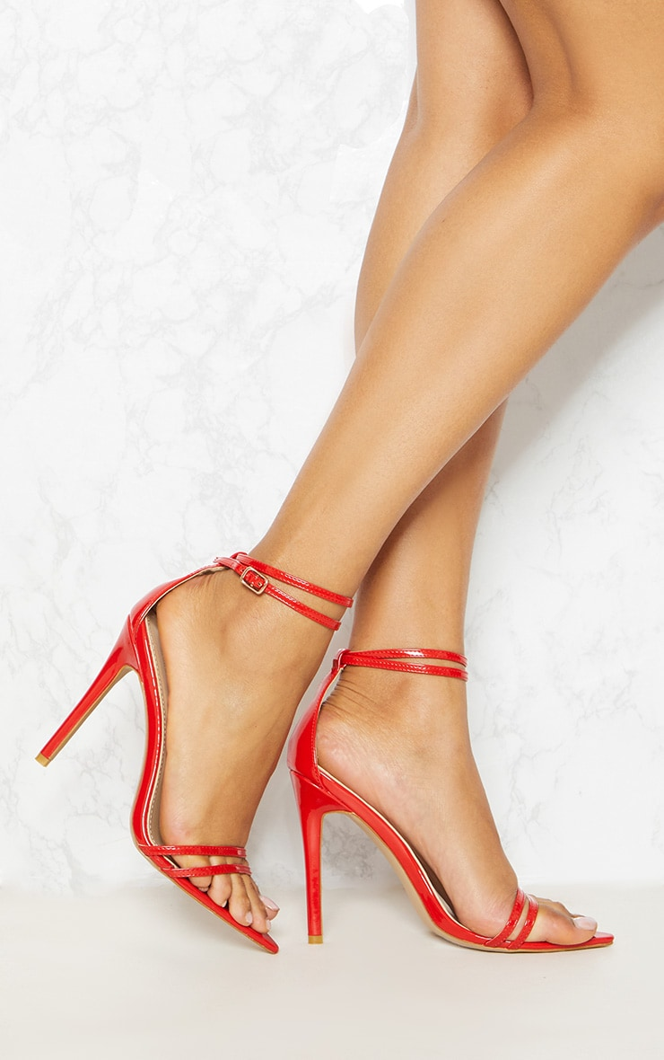 Red Point Toe Barely There Sandal 2