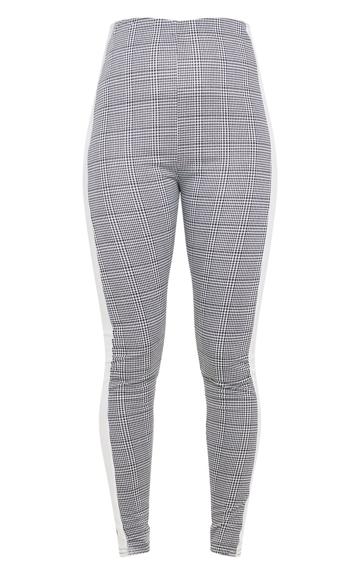 Black Checked Side Stripe Legging 3