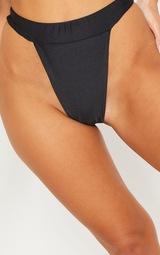 Black Mix & Match High Leg Bikini Bottom 6