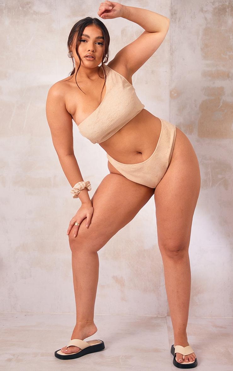 Plus Stone Towelling Bikini Bottom 3