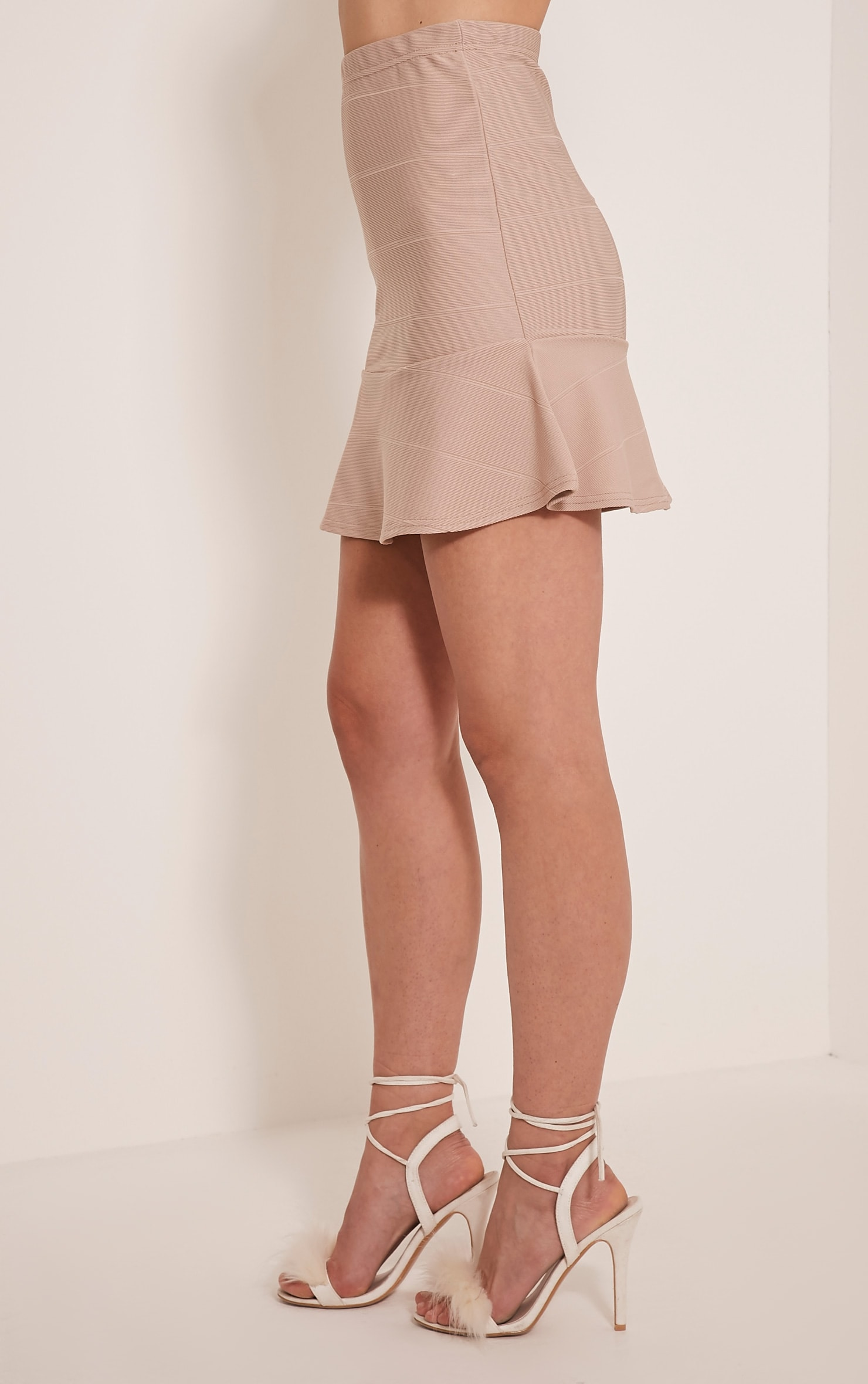 Addy Stone Bandage Flippy Hem Mini Skirt 3