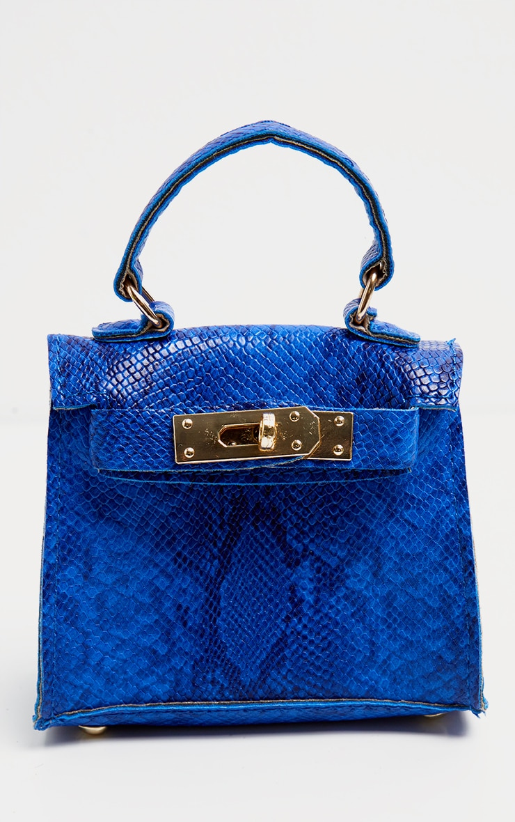 Blue Snake Print Micro Mini Bag 3