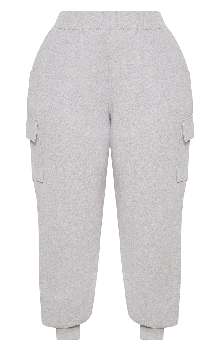 Plus Grey Pocket Detail Cargo Track Pants 3