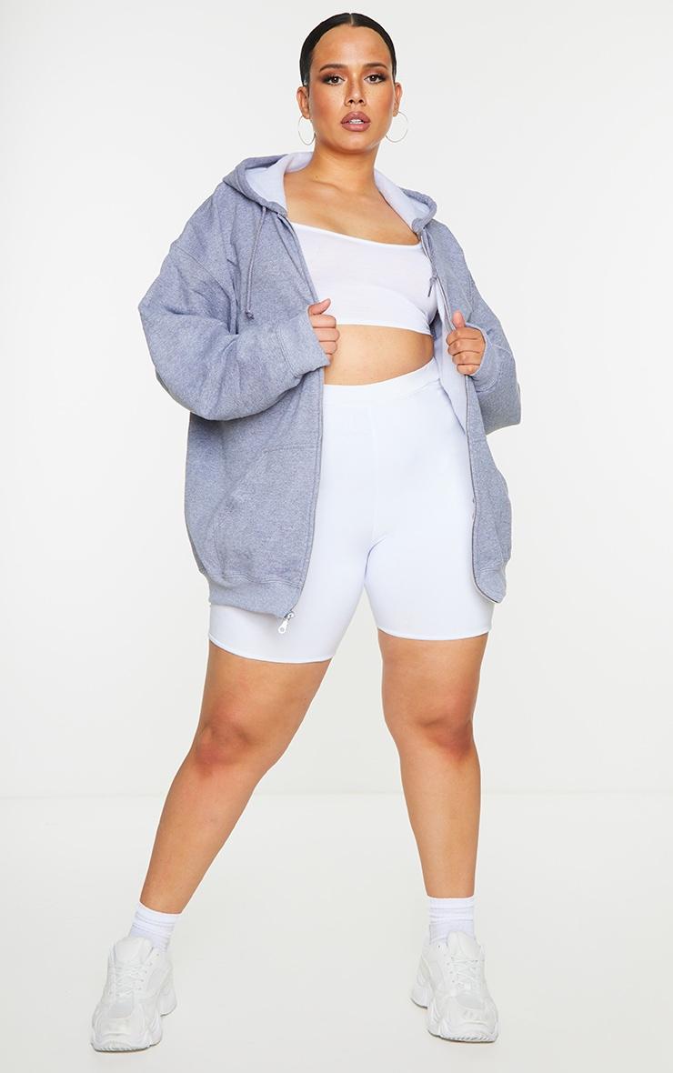 Plus Grey Fleece Zip Up Hoodie 3