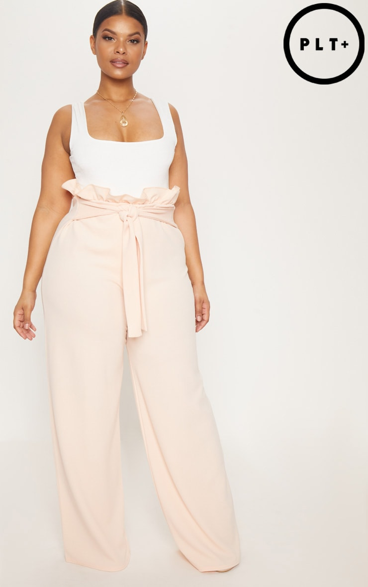 Plus Blush Wide Leg Trousers