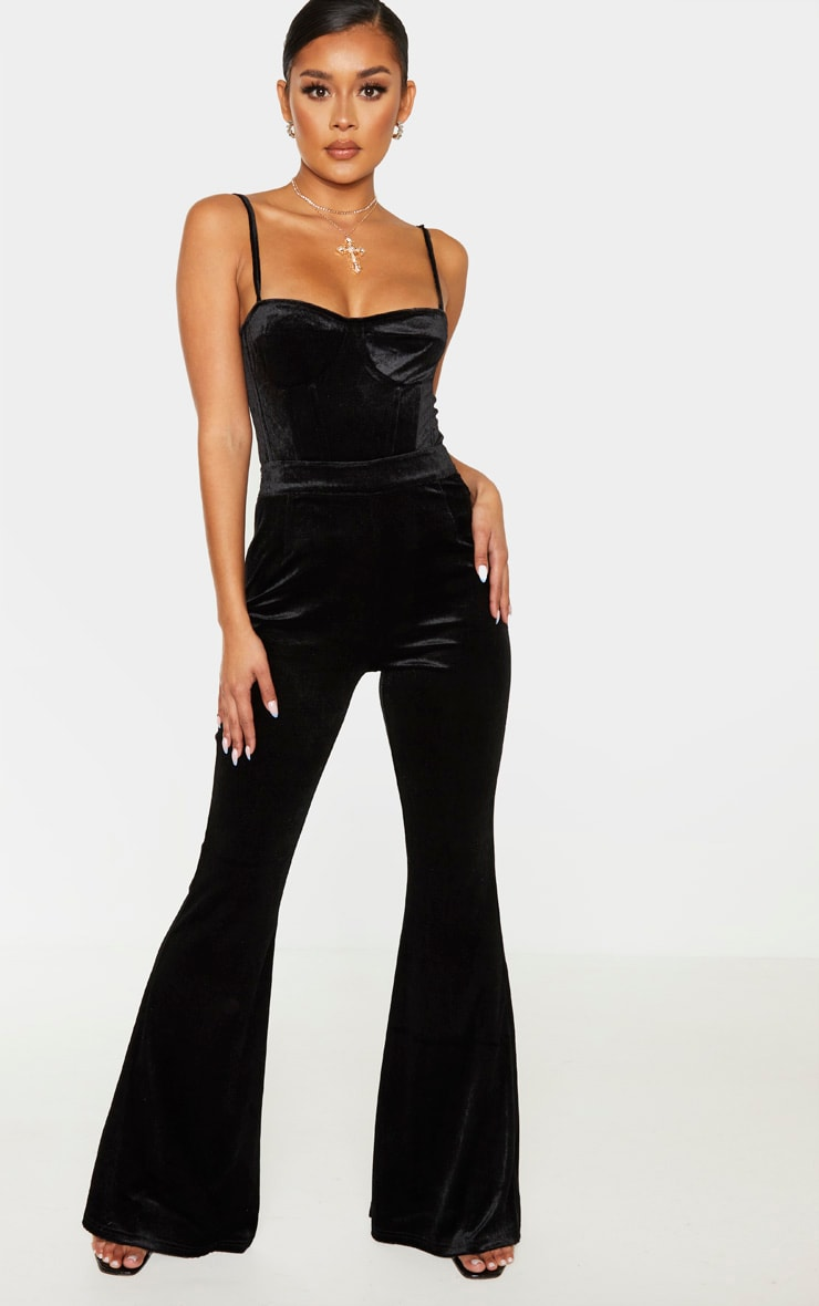 Black Velvet Structured Corset Top 4