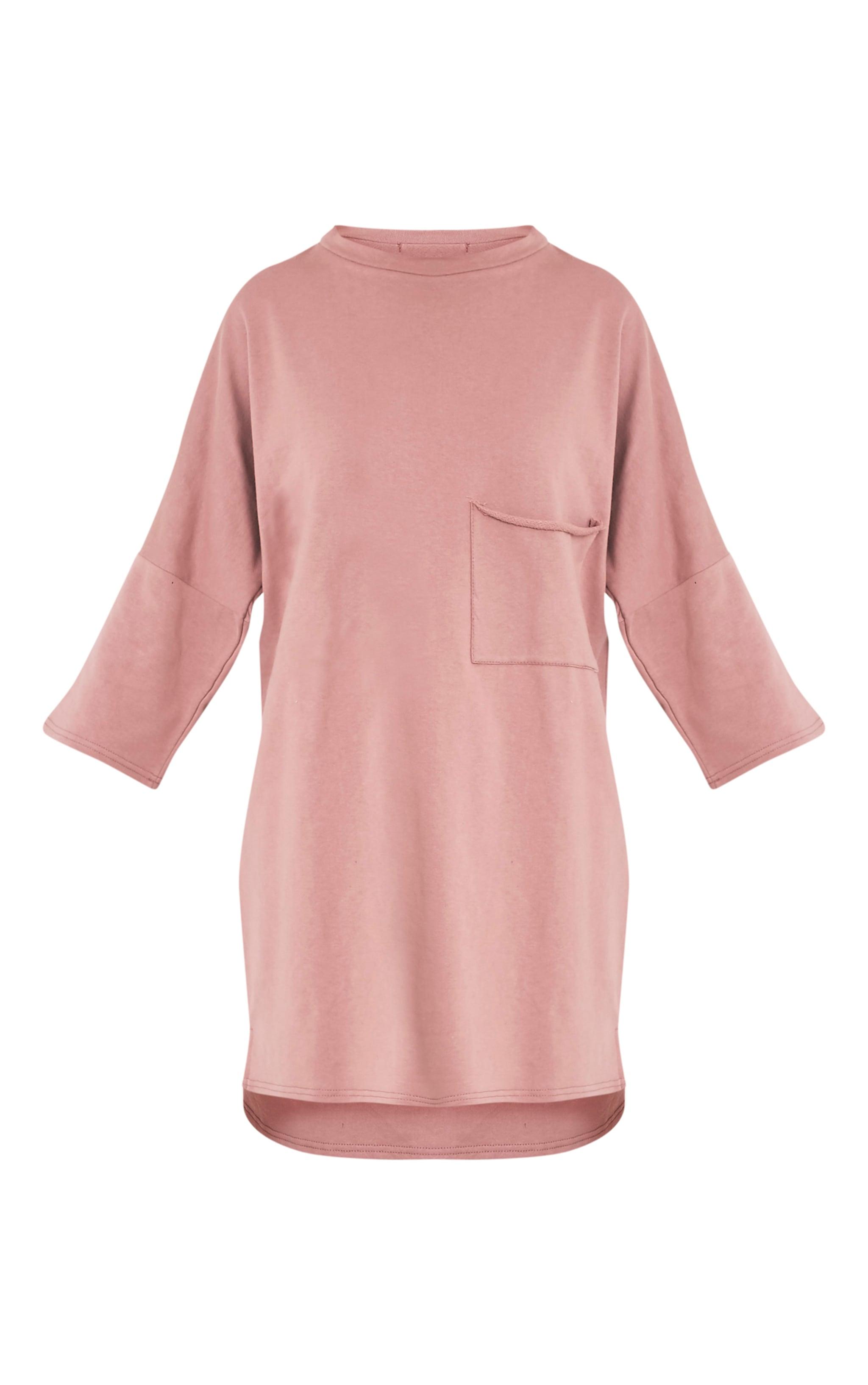 Ceara Dark Mauve Split Side Sweater Dress 3