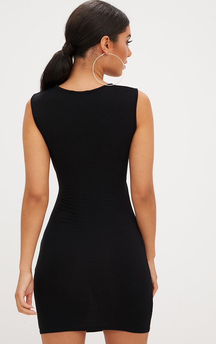 Black Cut Out Underbust Bodycon Dress 2