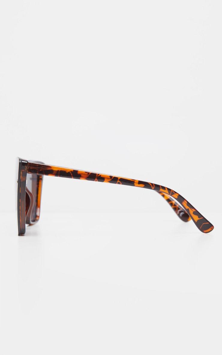 Tortoiseshell Hidden Frame Oversized Cat Eye Sunglasses 3