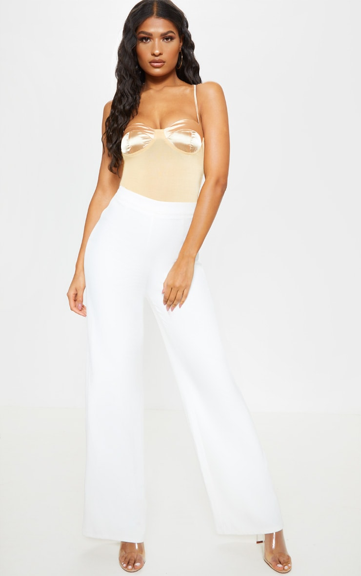 Champagne Satin Cup Bodysuit 3