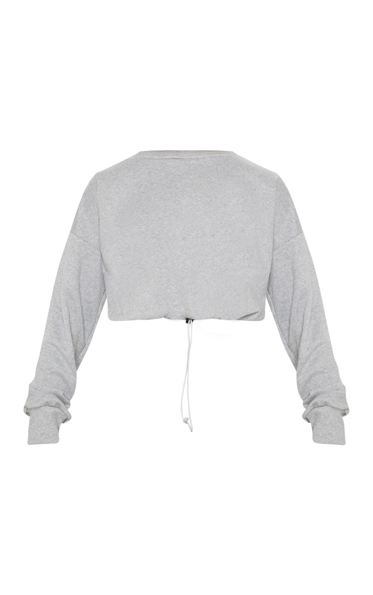 Grey Basic Gym Sweat Top 4