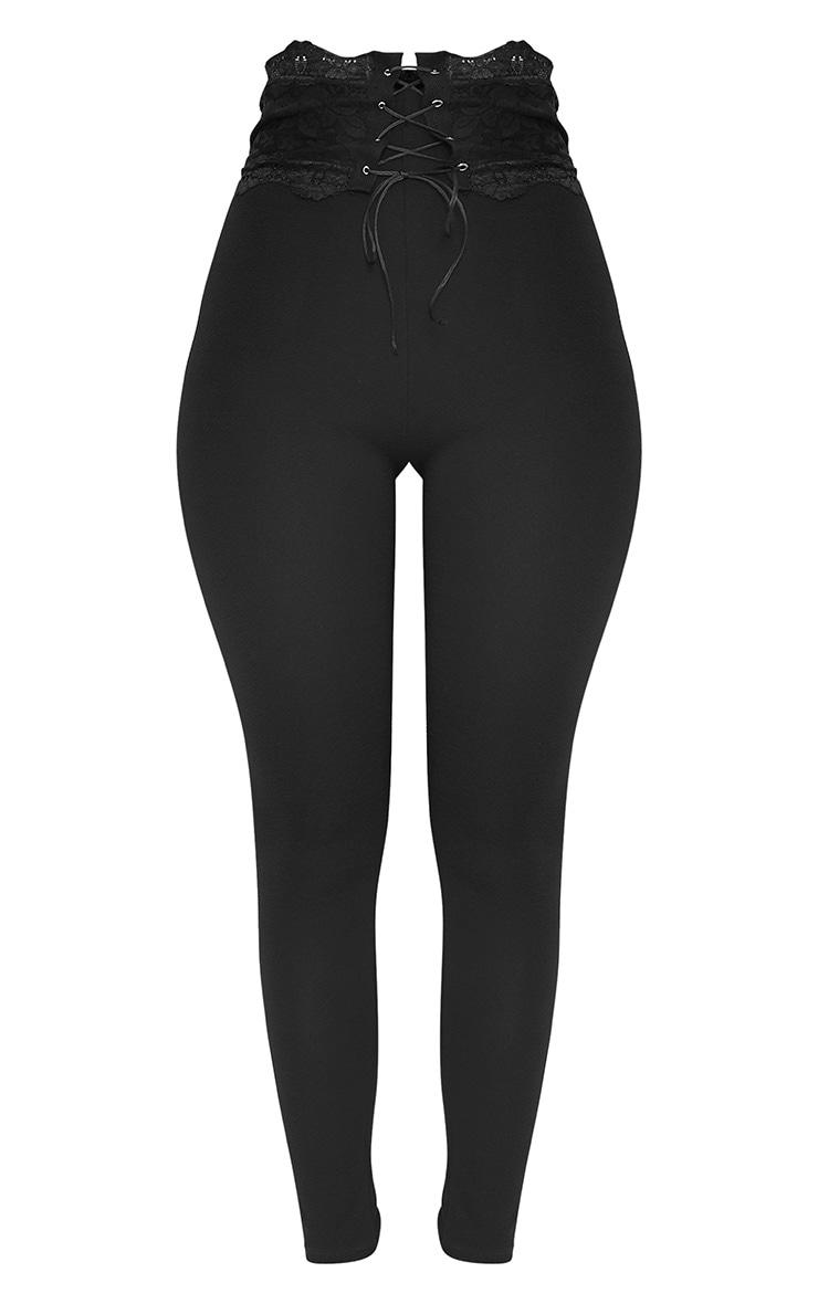 Azalea Black Lace Corset Waist Pants 3