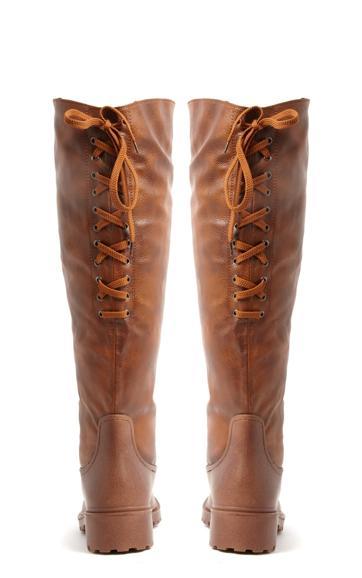 Lilah Knee High Two Tone Boots 3