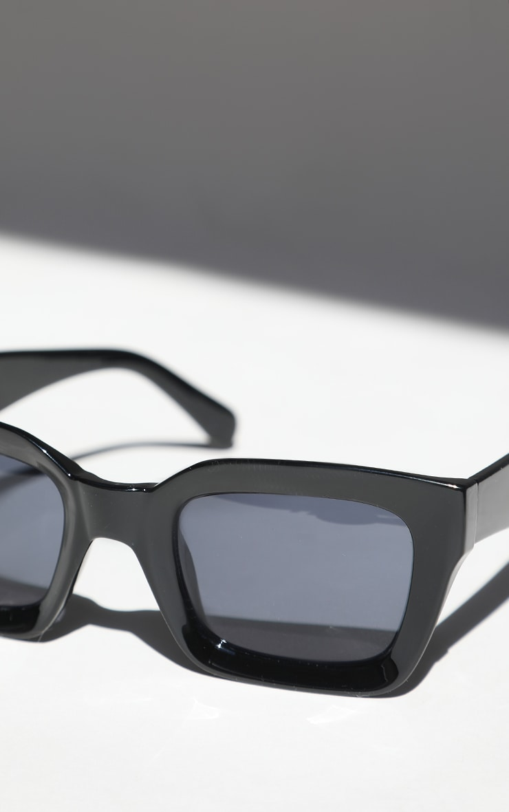 Black Square Frame Oversized Sunglasses 4