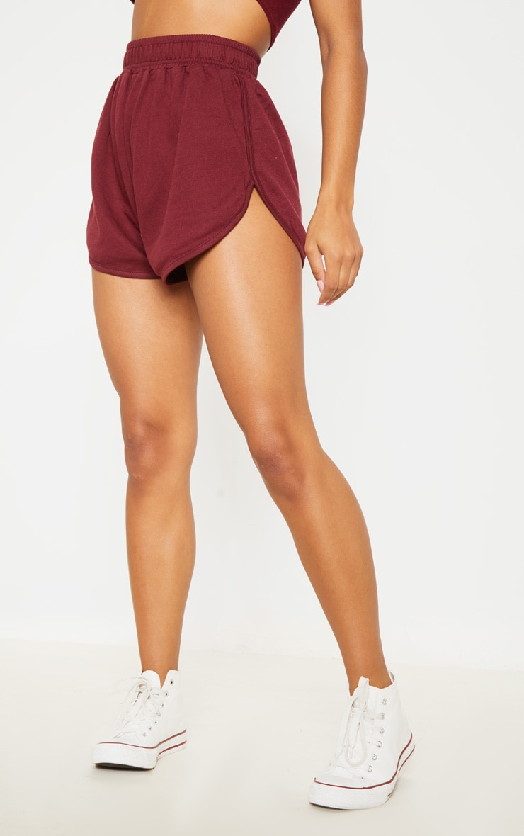 Maroon Sweat Runner Short 2