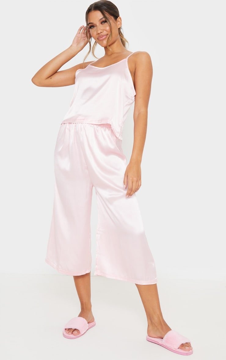 Light Pink Culotte And Cami PJ Set 1