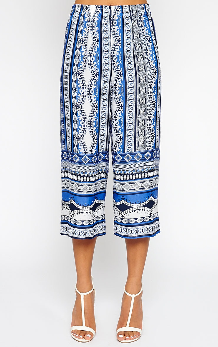 Taylor Blue Printed Trousers 3