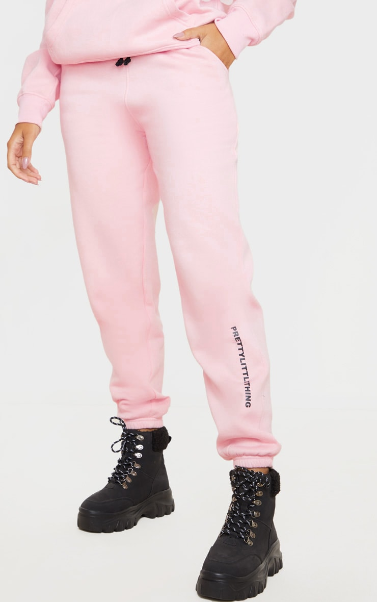 PRETTYLITTLETHING Light Pink High Waisted Jogger 2