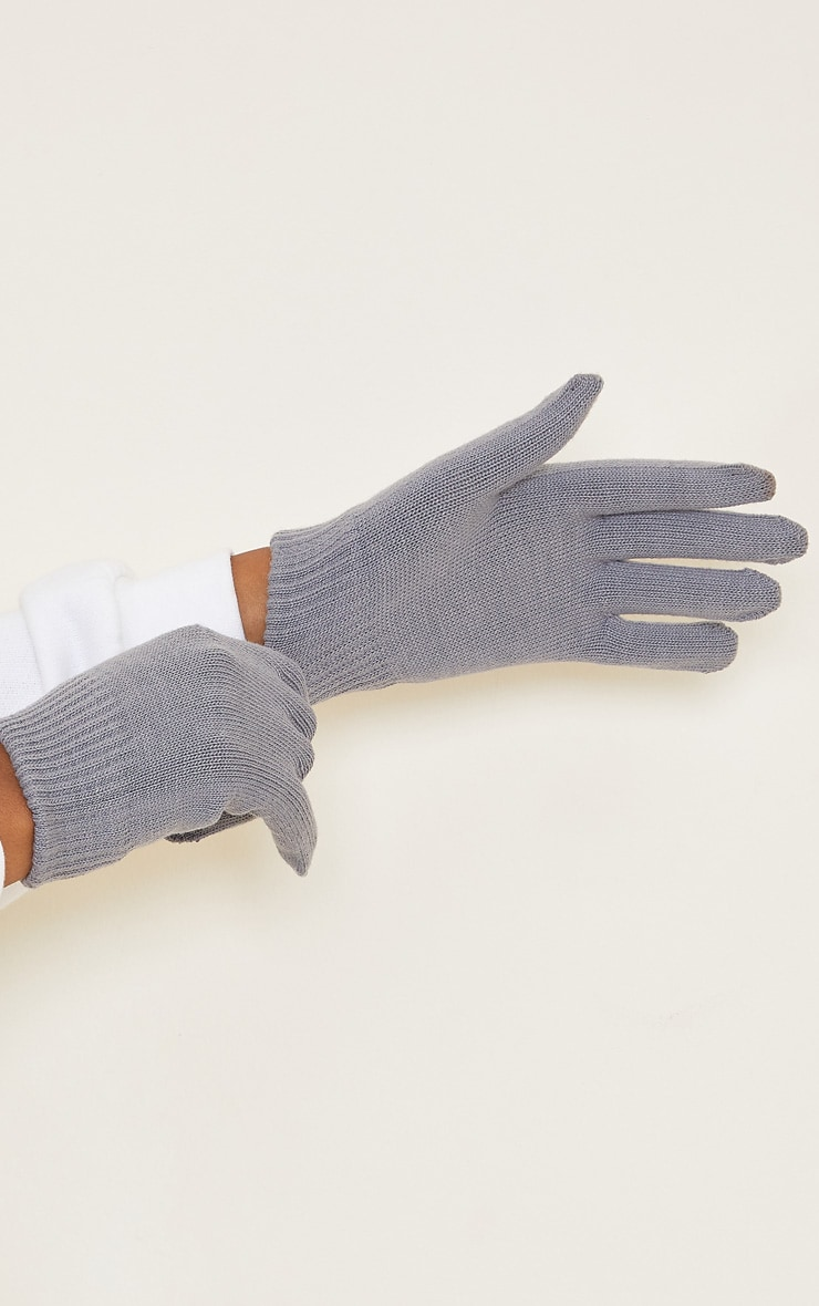 Grey Recycled Gloves 2
