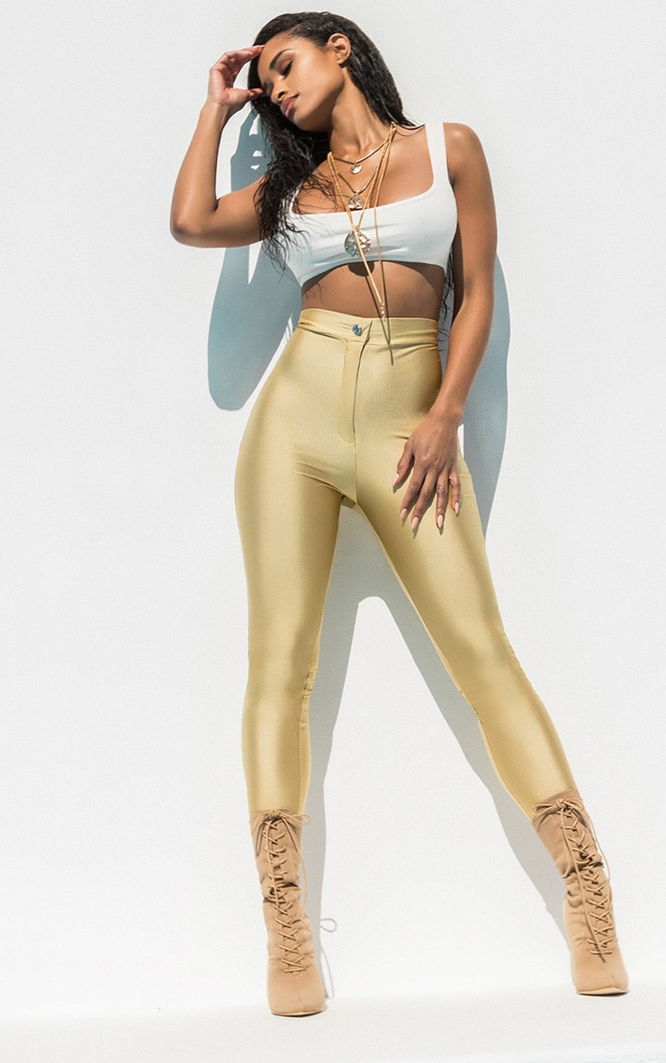 Seconde Peau - Pantalon disco champagne 2