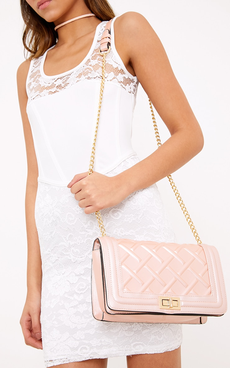Cindy Rose Gold Chain Strap Shoulder Bag 2