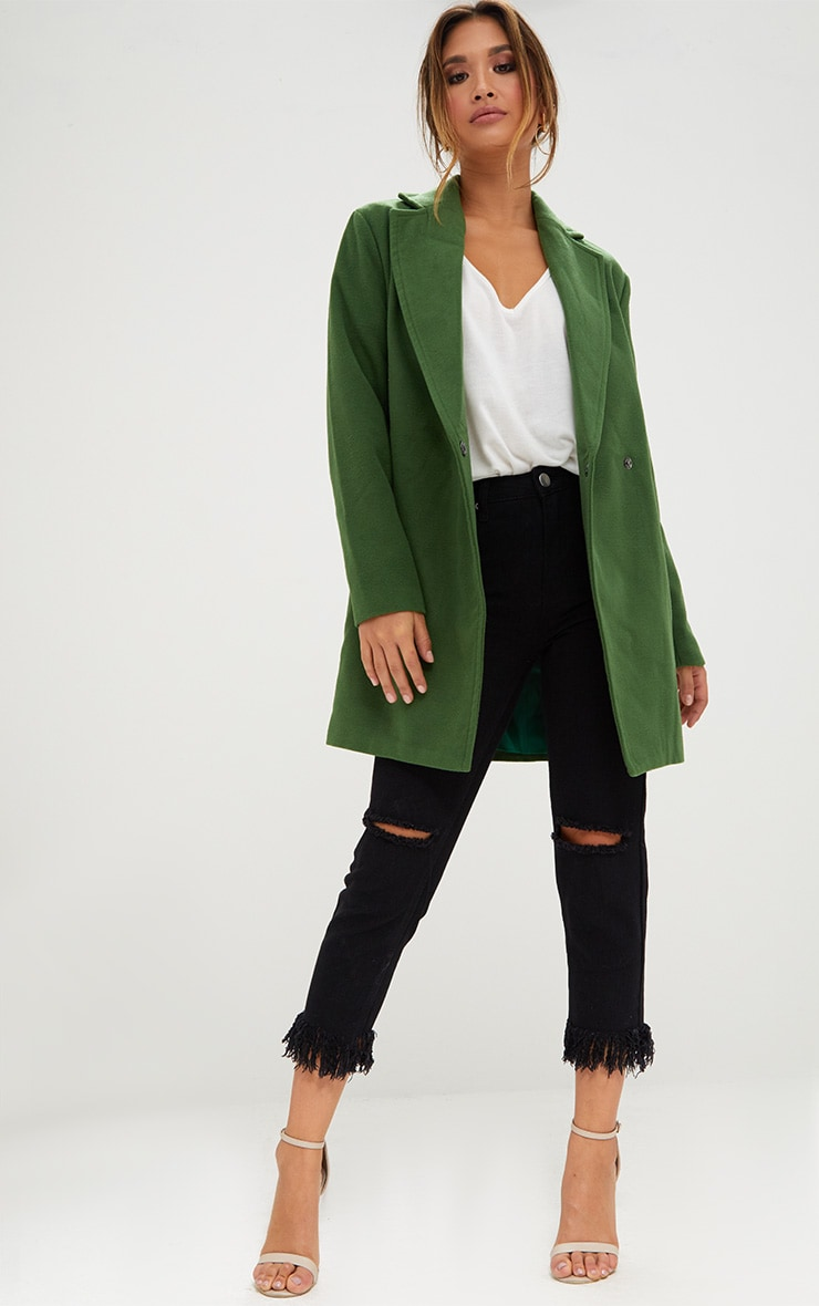 Green Double Breasted Coat 3