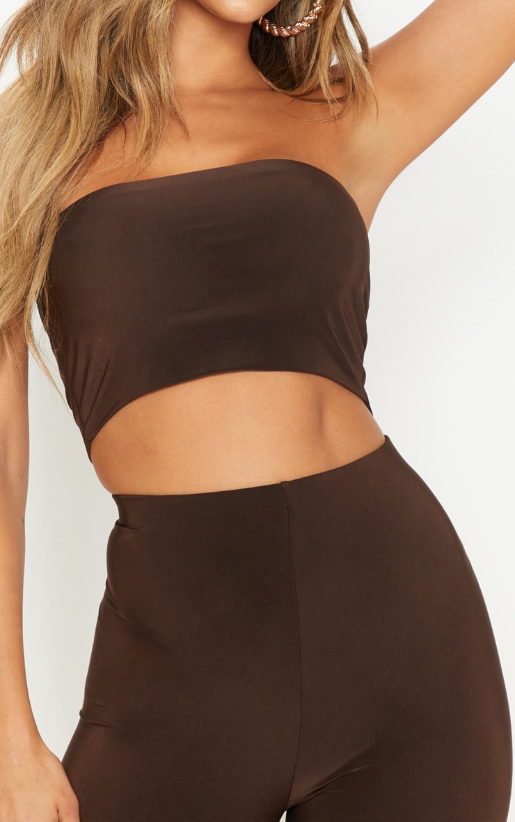 Spice & Chocolate 2 Pack Slinky Bandeau Crop Top  5