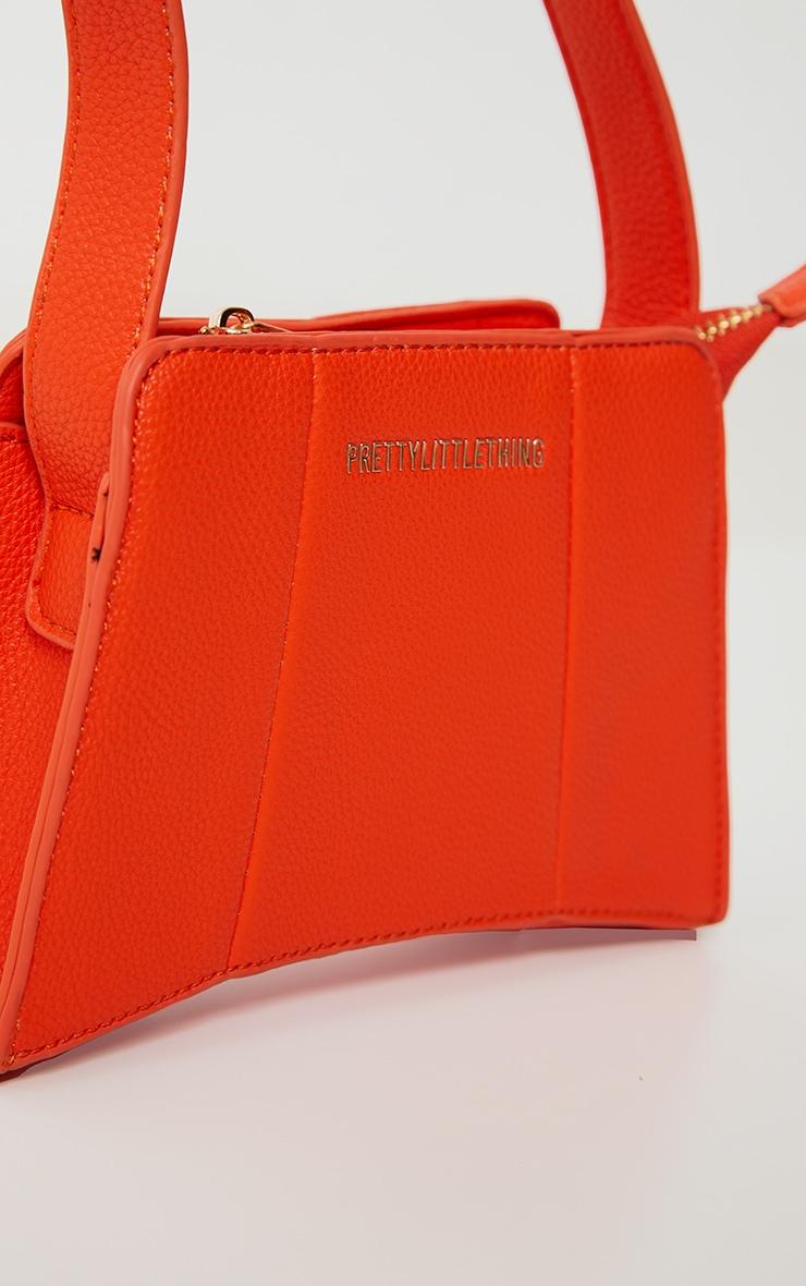 PRETTYLITTLETHING Orange Triangular Shoulder Bag 3