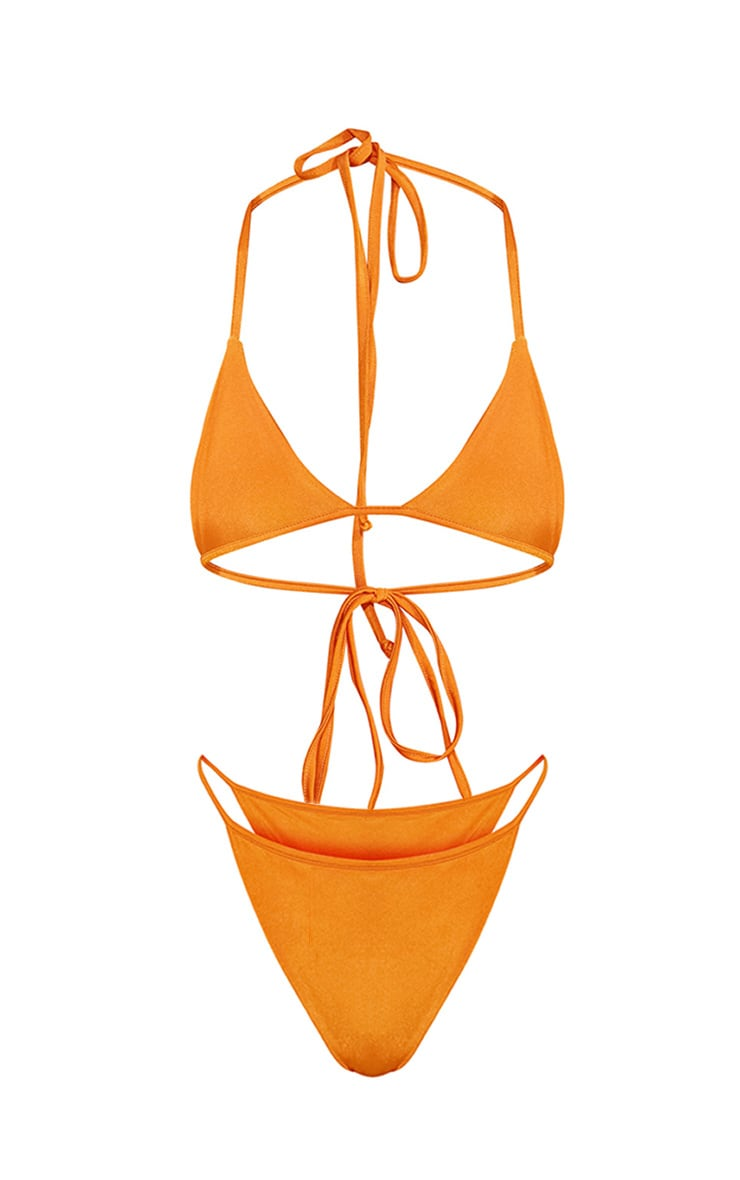 Orange Minimal Triangle Bikini Set 3