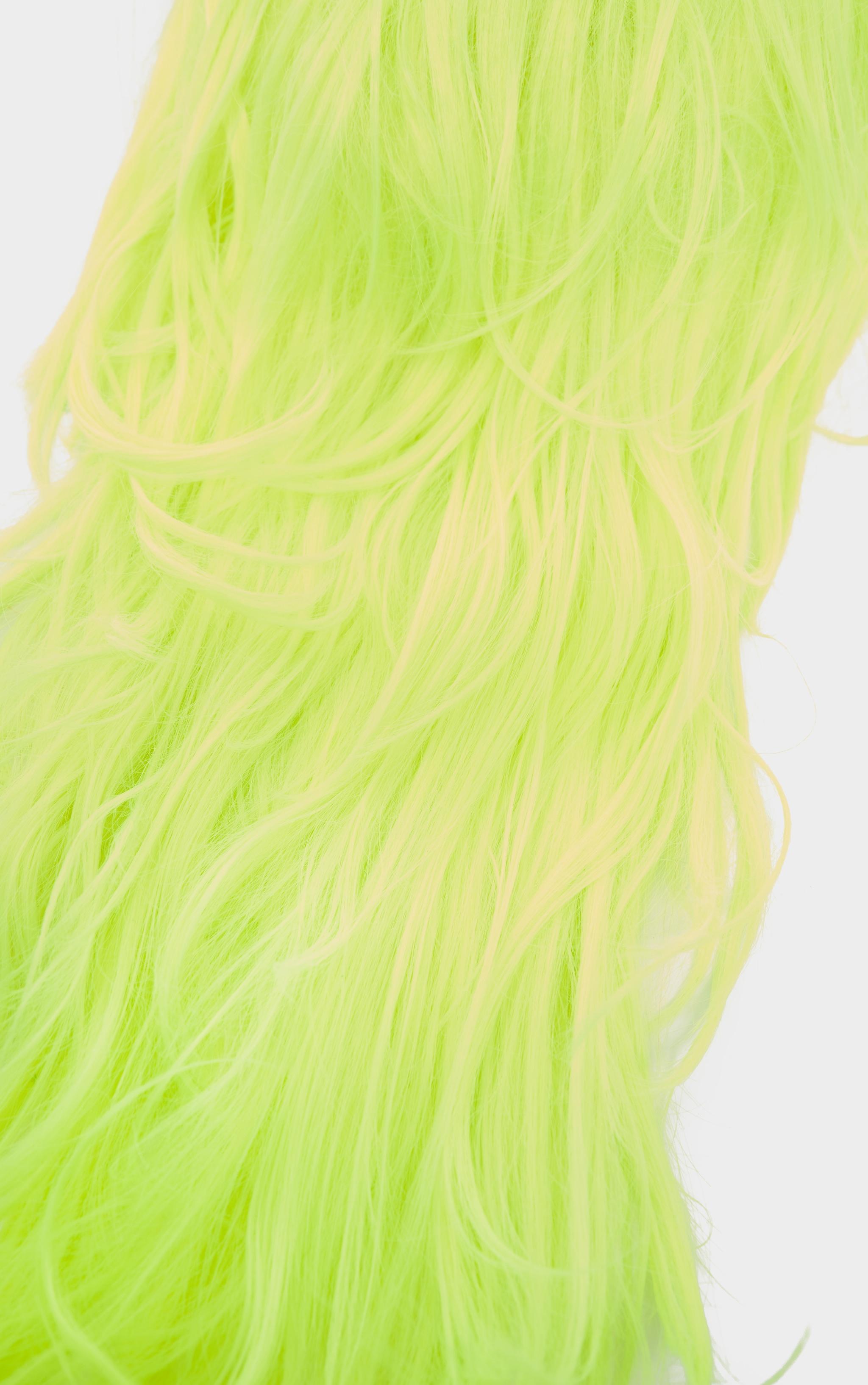 Neon Yellow Premium Long Wig 3