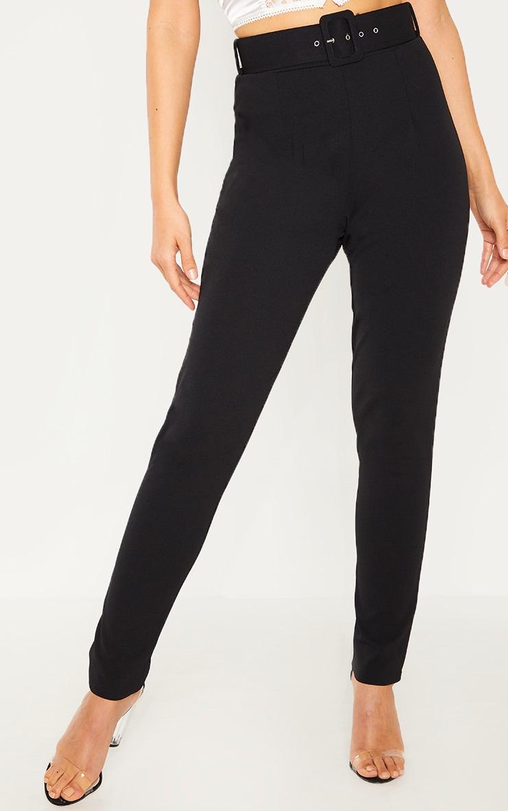 Black Belted Waist Skinny Trouser 2
