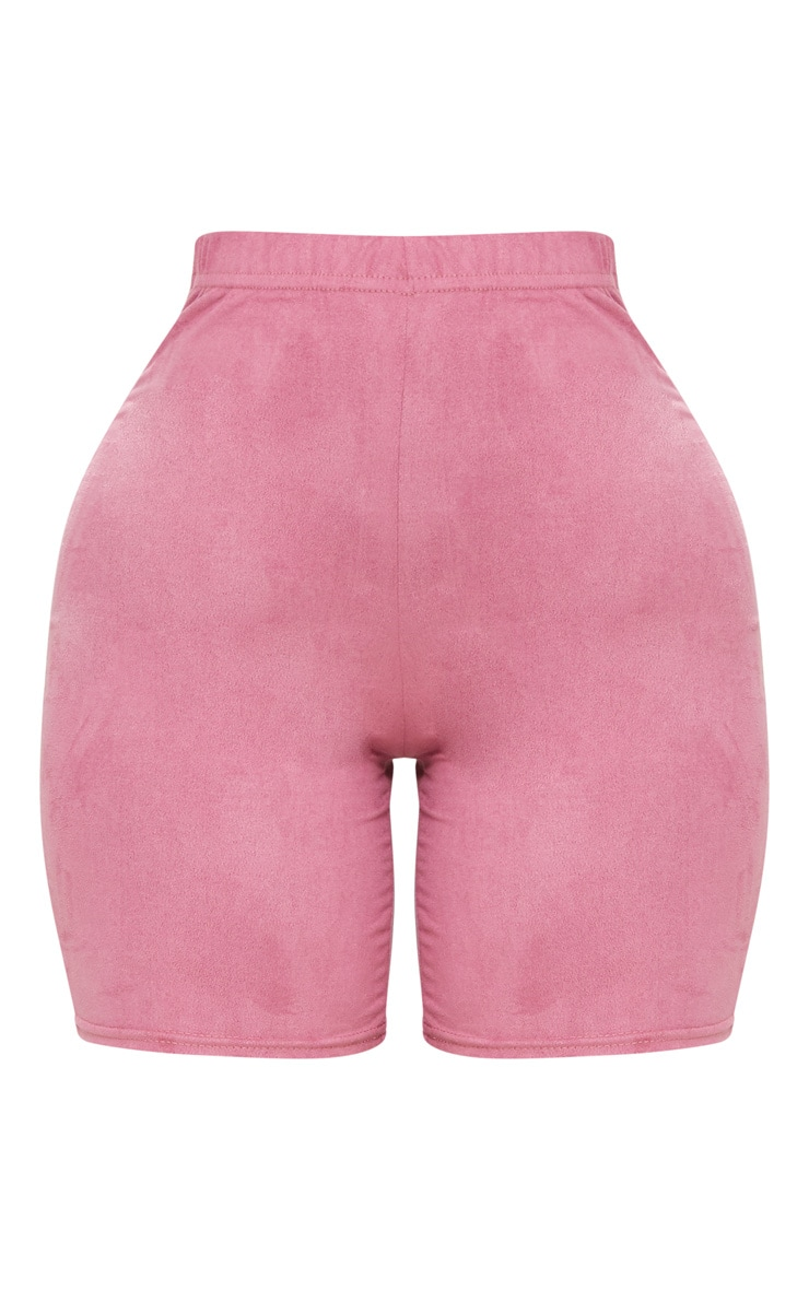 Shape Rose Faux Suede Cycling Shorts 3