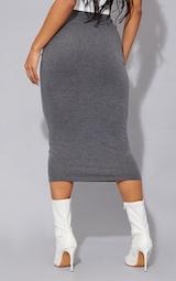 Charcoal Ultimate Jersey Longline Midi Skirt 3