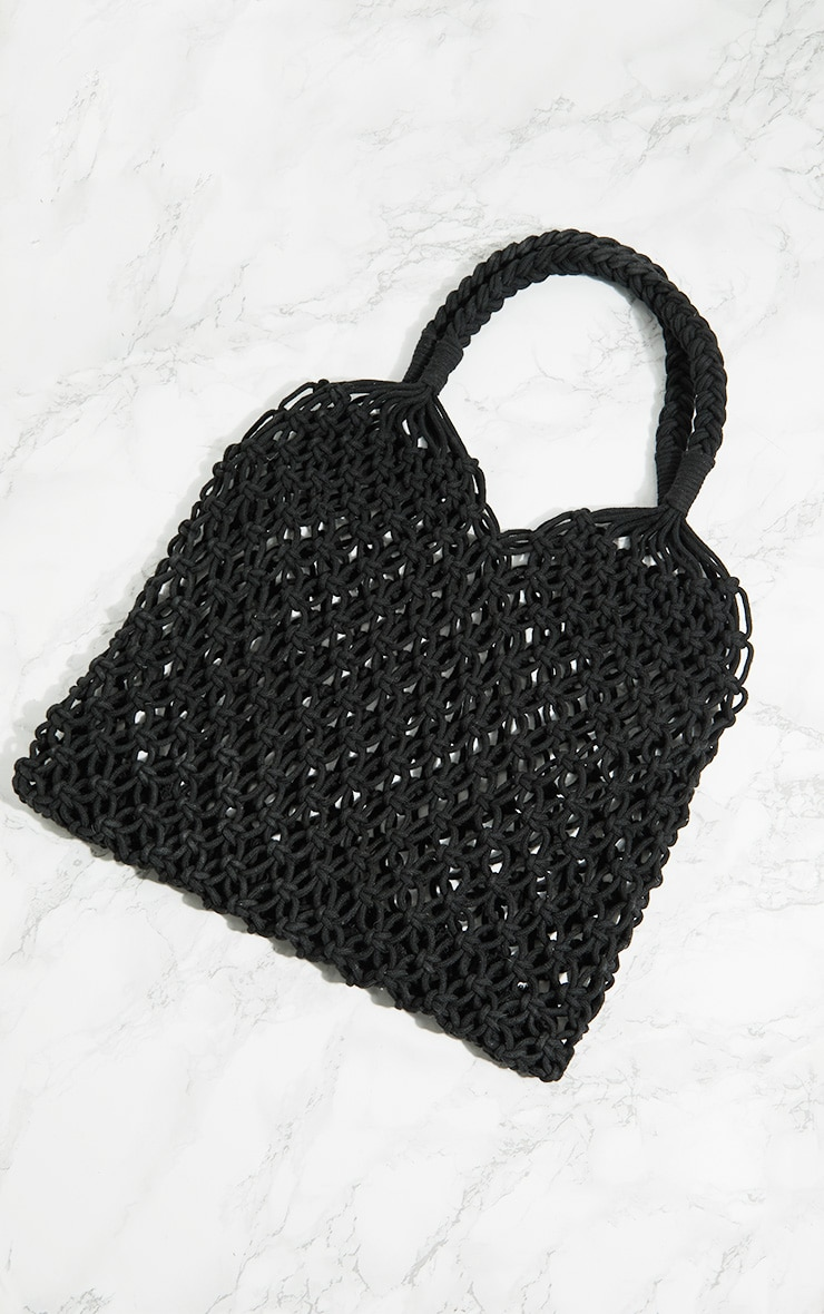 Black String Shopper Bag 3