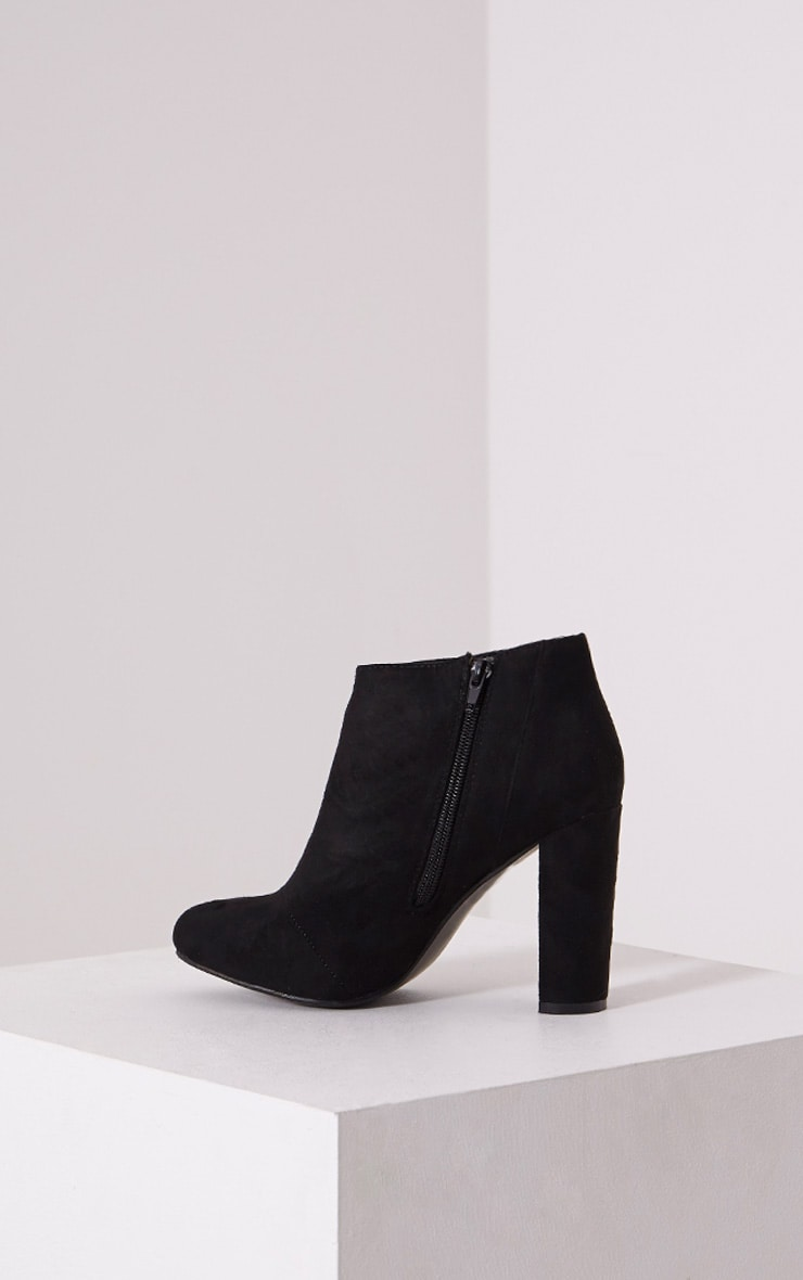 Roux Black Suede Ankle Boots 4