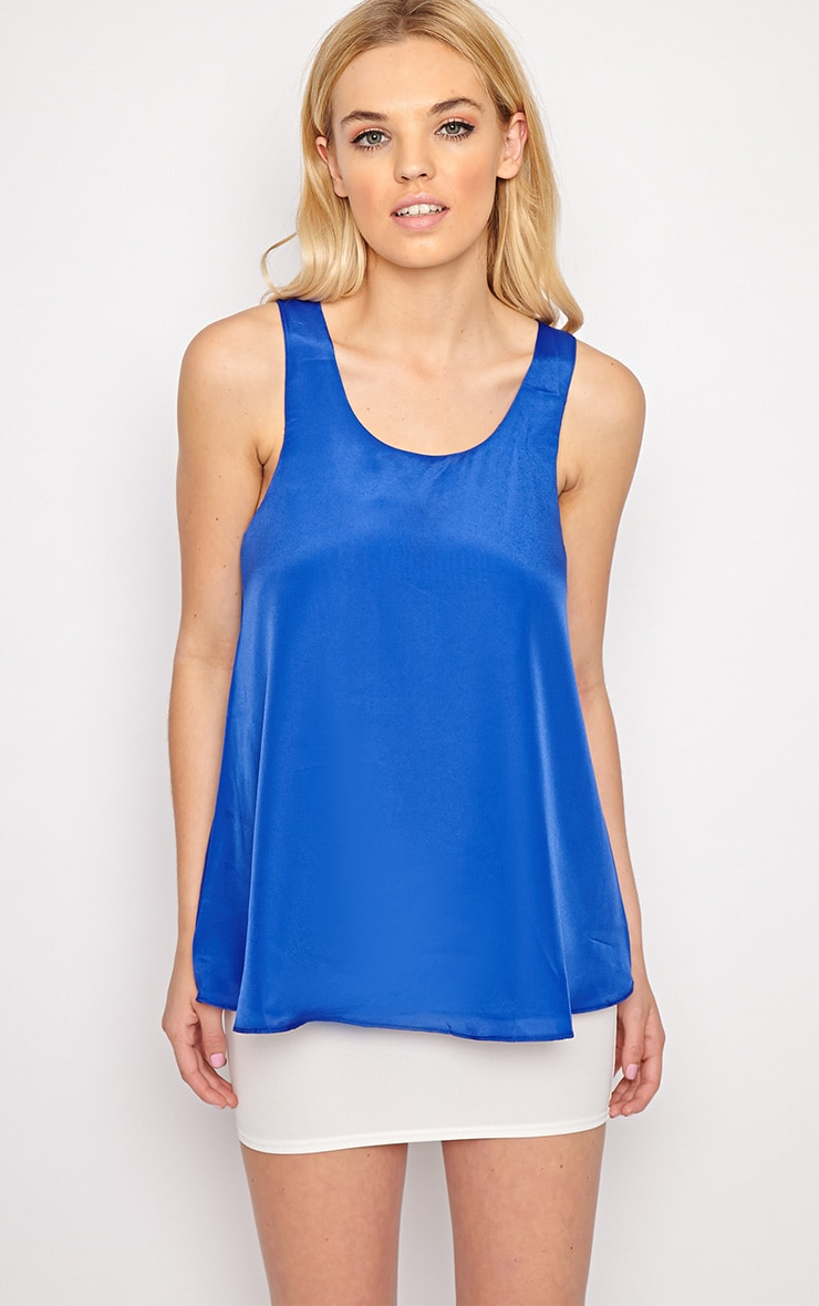 Morgan Cobalt Swing Vest 3