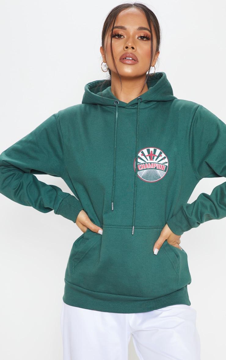 Vert Oversize À Hoodie Champion Slogan nO8XkwP0