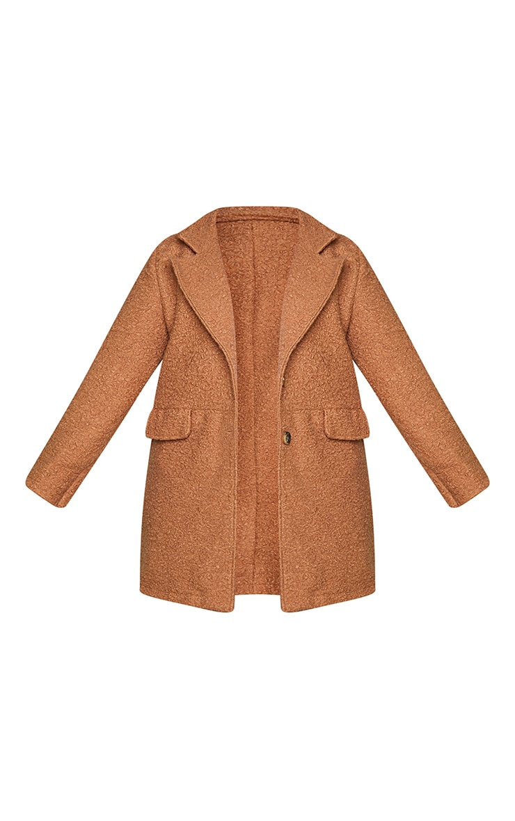 Plus Brown Teddy Button Down Coat 5