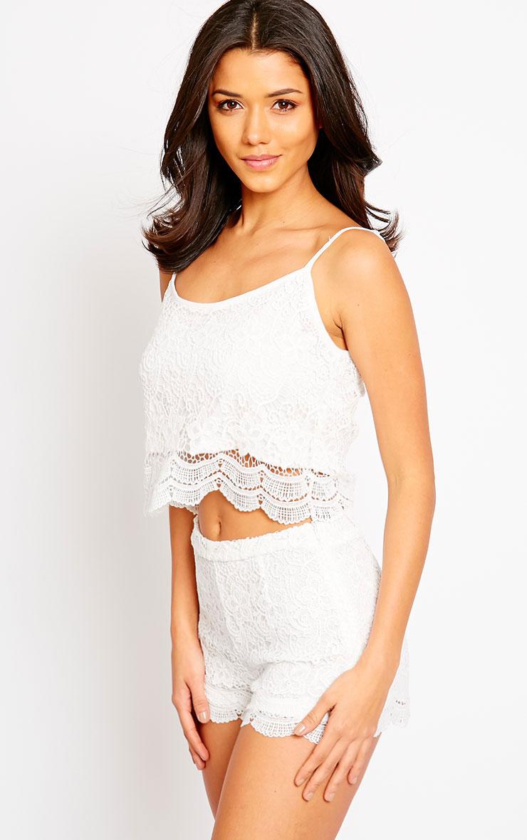 Nella Cream Lace Shorts 1