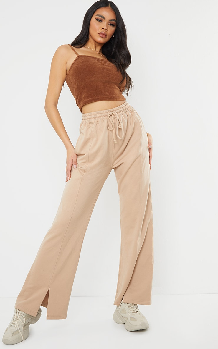 Stone Washed Wide Leg Joggers 1