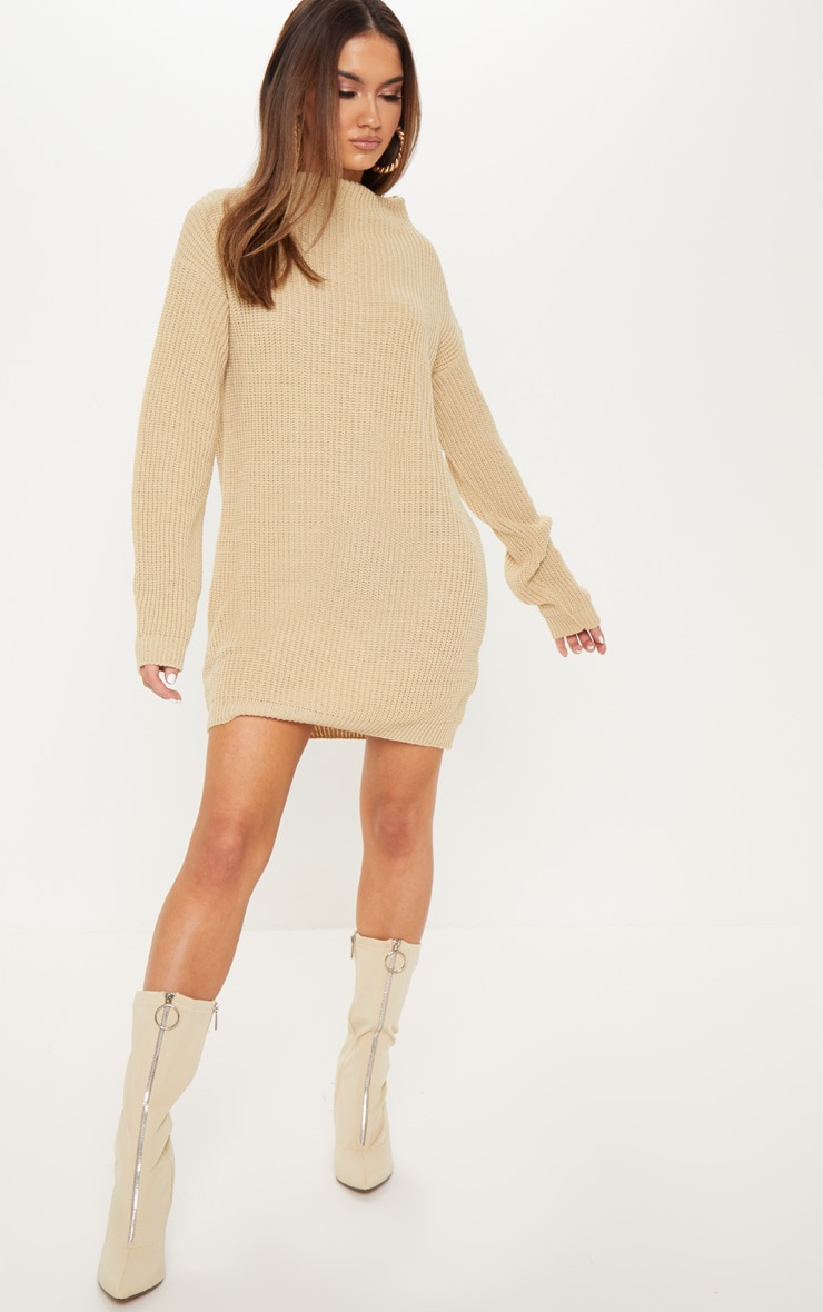Stone Knitted Long Sleeve Dress 4
