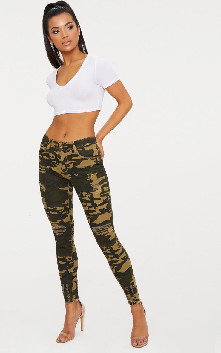 Khaki Camouflage Skinny Jean 1