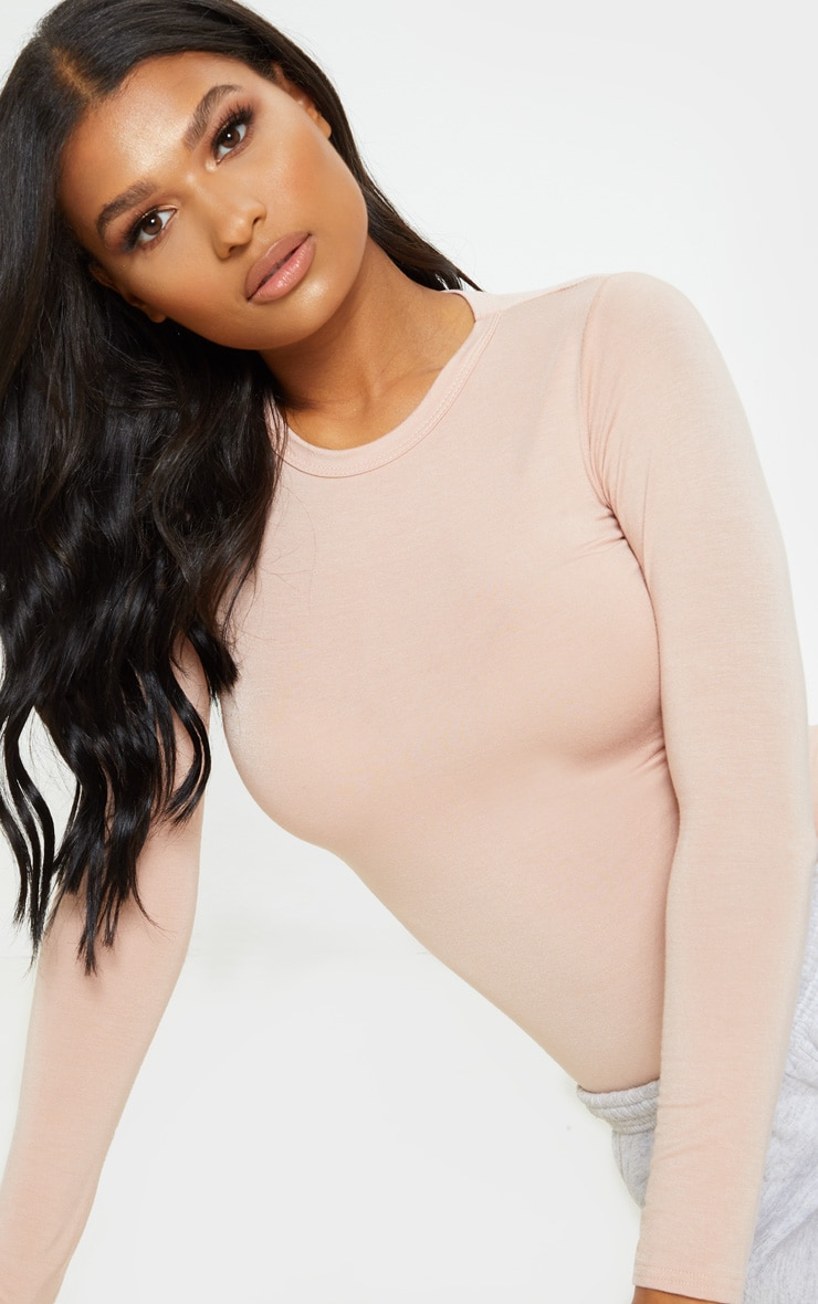 Nude Basic Longsleeve Fitted T Shirt  5