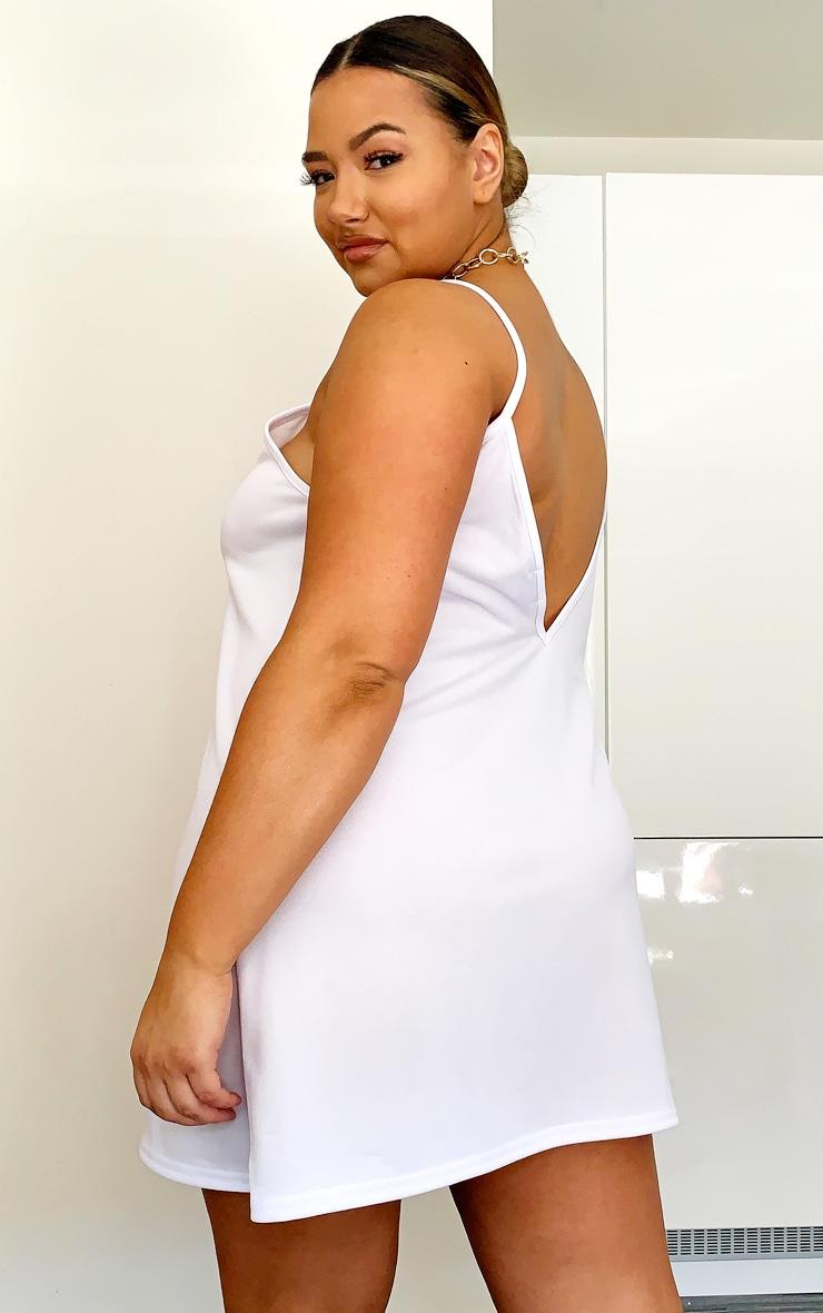 PLT Plus - Robe à bretelles dos nu blanche  2