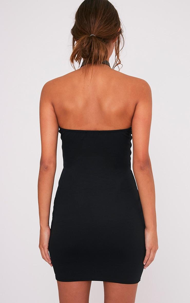 Sofia Black V Plunge Bandeau Bodycon Dress 2