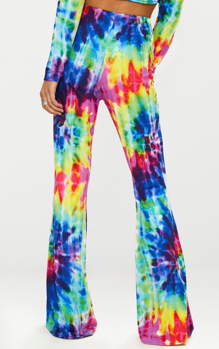 Multi Tie Dye Flared Trousers 3