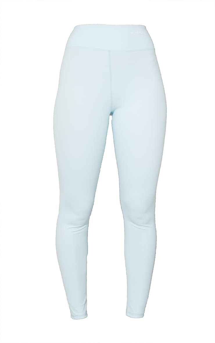 PRETTYLITTLETHING Baby Blue Sculpt Luxe Gym Leggings 5