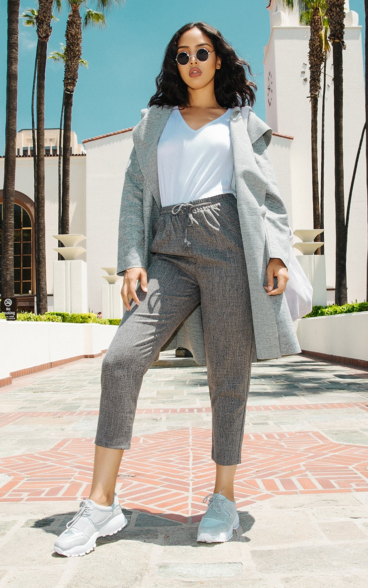 Diya Grey Casual Trousers