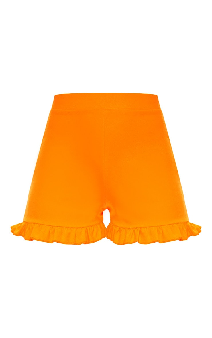 Neon Orange Frill Shorts  3